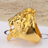 Bague lion gitan or.