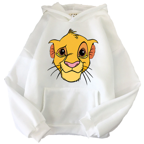 Sweat disney le roi lion blanc.