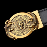 Ceinture tete de lion en or.