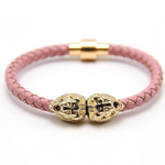 Bracelet rose et or lion