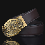 Ceinture lion marron.