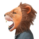 Masque lion en latex.