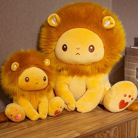 Doudou lion orange taille.