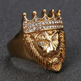 Bague couronne or.