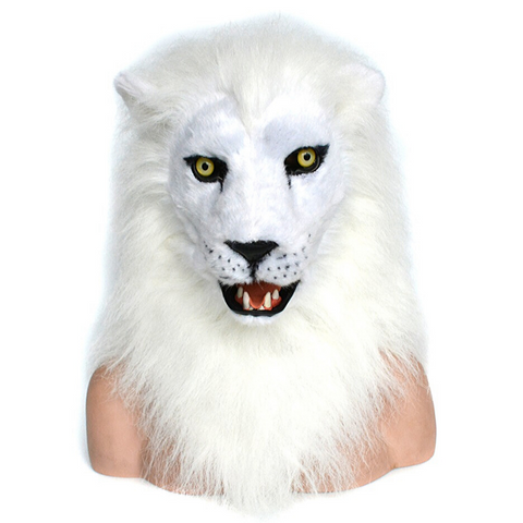 Masque lion blanc.