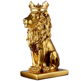 Statue Lion deco Or