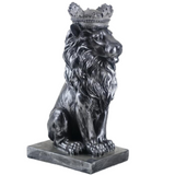 Statue lion couronne.