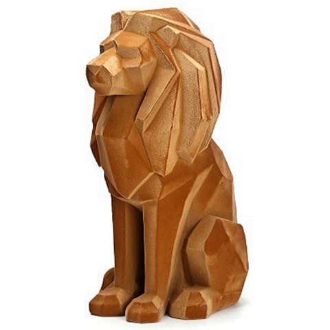 Statuette lion or.