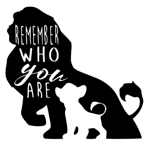 Sticker roi lion remember who you are.
