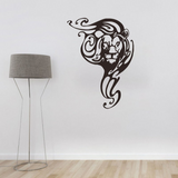 Sticker autocollant lion deco design.