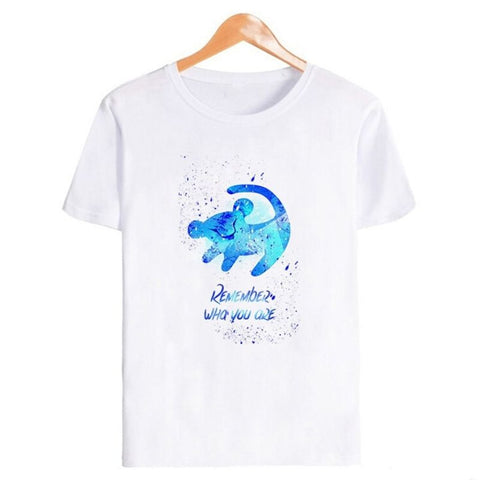 T-Shirt Roi Lion Remember Bleu