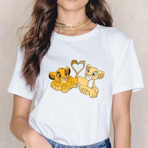 T-Shirt Roi Lion Simba et Nala photo