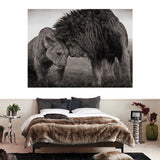 Tableau Lion et Lionne Finesse photo couple