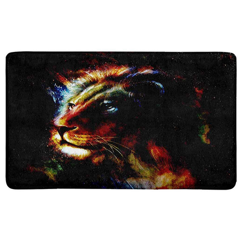 Tapis lion couleurs.