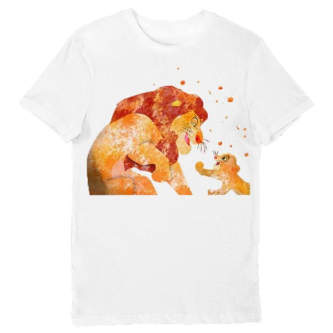 T Shirt Roi Lion Blanc