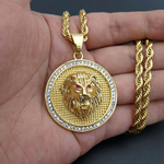 Collier lion or.