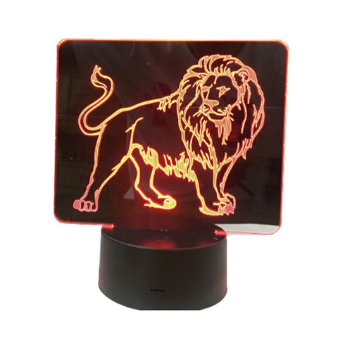 Lampe de Chevet Lion en Plaque