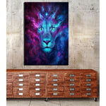Tableau Lion Conviction dessin mural
