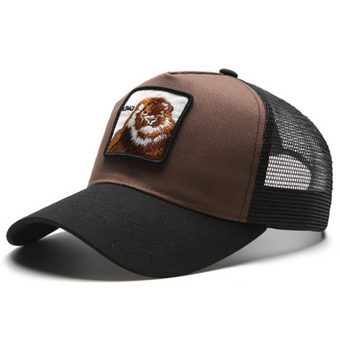 Casquette lion king marron.
