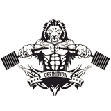 Sticker lion bodybuilder
