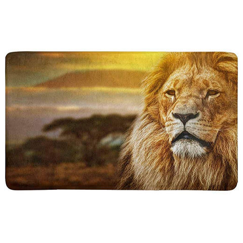 Tapis lion royaume.