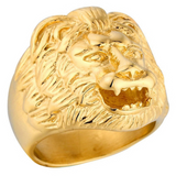 Bague tete de lion or.