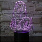 Lampe de Chevet Lion Multicolore violet