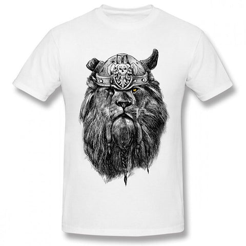 T-shirt lion viking.