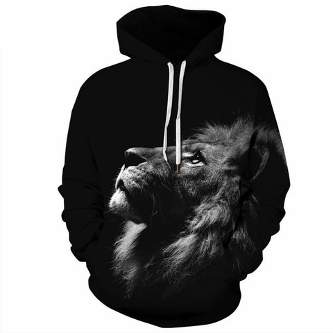 Sweat Lion Noir et Blanc