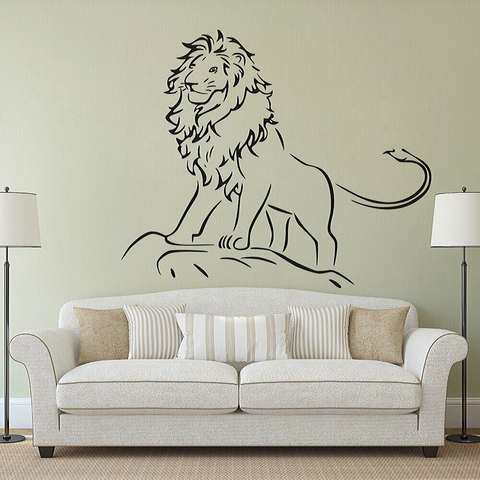 Stciker lion salon.