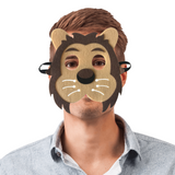 Demi masque lion adulte.