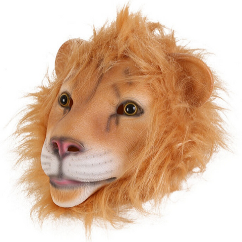 Masque latex lion.