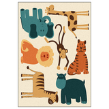 Tapis lion and co chambre enfant.