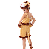 Costume lion fille.