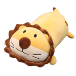 Lion en peluche allongé