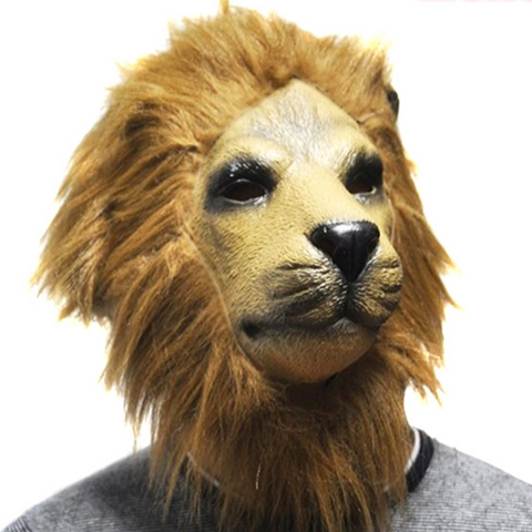 Masque lion latex.