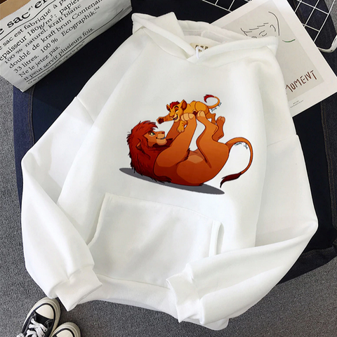 Sweat le roi lion blanc pour adulte.