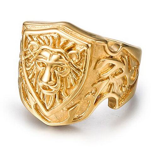 Bague or lion.