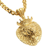 Tete de lion collier or.