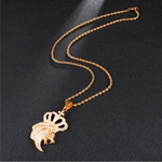 Collier avec lion or.
