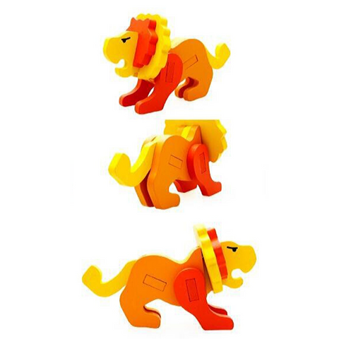 Puzzle lion enfant multicolore.