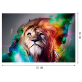 Puzzle lion adulte couleurs.