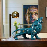 statue lion interieur deco