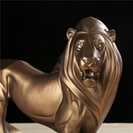 Statuette lion decoration interieur