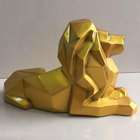 Statue design lion or.