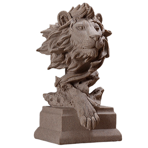 Statue lion décoration.