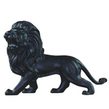 Statue de salon lion noir.