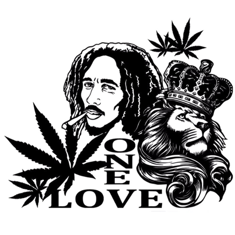 Sticker lion one love.