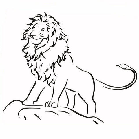 Sticker lion enfant.