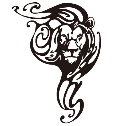 Sticker lion design.